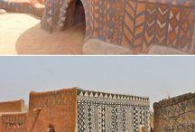 maisons traditionnelles peintes
