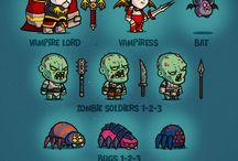 2D HERO / персонажи для 2D игр