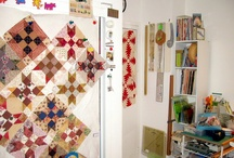 What's on on Anita's Design Wall / Quilt work in progress / by Anita Grossman Solomon
