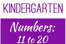 Kindergarten: Numbers 11 to 20 / This board contains resources for Texas TEKS K.1A, K.2B, K.2C, K.2E, K.2F, K.2G, K.2H