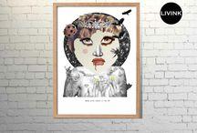 Spring 2014 Art-collage from Livink Aps / Her kan du se vores udvalg af plakater og posters fra forårs kollektionen