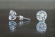 Diamond Veneer Studs Earrings / The worlds best simulated diamonds, Carbon diamond coated cubic zirconia earrings. Why buy Diamonds?