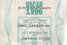 """Oscar dell'Imballaggio / Nel 1996, al trentesimo anno di fondazione della società, la Fonti Prealpi ha ricevuto, dall'Istituto Italiano Imballaggio, l'Oscar dell'imballaggio per la sezione """"Ambiente"""", grazie alla creazione di una bottiglia compattabile che favorisce il riciclaggio e quindi il rispetto dell'ambiente."""