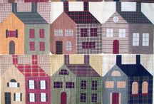 Quilts with houses / Квилты с домиками
