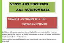 Art Auction France / Vente aux enchéres France / 4 septembre / 4th September art auction in partnership with chateau de Bonneval