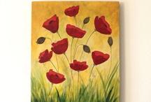 Poppy paintings