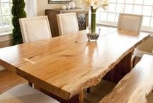 raw wood table