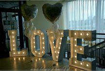 Świecący napis LOVE / Napisy świecące