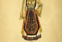 """Αθηνά Ταρσούλη """" Ελληνικές Φορεσιές""""- Greek Costumes by Athina Tarsouli / Αθηνά Ταρσούλη, """" Ελληνικές Φορεσιές"""", Αθήνα 1941. Λεύκωμα με σχέδια ελληνικών τοπικών ενδυμασιών της Αθηνάς Ταρσούλη αποτέλεσμα των ταξιδιών της σχεδόν σε όλη την Ελλάδα και επισκέψεων της σε Μουσεία και ιδιωτικές συλλογές."""