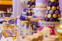 Lavendar & Gold birthday party