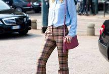 MOODBOARD CAMPAÑA 1 / Looks más clásicos y colores de la década de los 70: Pantalones rectos, abrigos largos, vestidos lisos elegantes , accesorios Gucci.