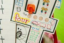 Skole/ barnehage tall / Lære tall, antall. Aktiviteter med tall og forming med tall.