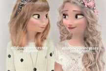 Anna and Elsa / We love Anna and Elsa!They are like us!