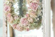 Ανοιξιάτικα λουλούδια στεφανια