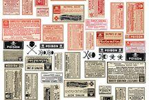 Label (VintageStyle) / アンティーク調、ビンテージ調のラベルデザインの参考