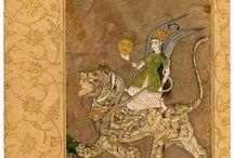 İslam minyatüründe Melekler / Periler - Angels in Islamic miniature art