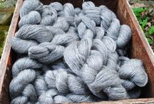 Yarn / Farm yarn from our own alpacas, sheep and goats or from other small farms across the Midwest. Much of our yarn is left in its natural color. The rest is hand dyed in small batches.