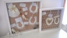 Personalised Wedding Charm Framing / I beautifully frame wedding charms, personalising it to suit you and your special day.