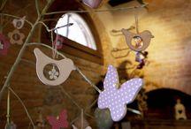 Fiori, farfalle e cuori ...❤ / decorazioni sala ristorazione e prima colazione