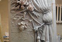 Art sculptures plaster