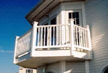 PVC Vinyl Railings / PVC railings are weather and splinter resistant. Whether you are outfitting a steep outdoor stairway or a handicap access ramp, PVC railings will provide you with years of worry-proof service.