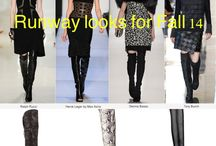Fall 2014 / Trendiest looks for fall 14 , inspired from runway looks!