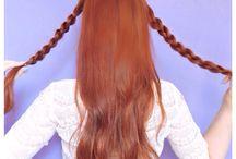 Penteado de cabelo.