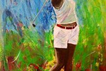 Golf målningar