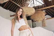 @MAJAALUNDGREN in the tropics. / golden girl Majaa in BALI.