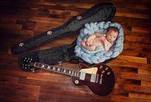 newborn on guitar