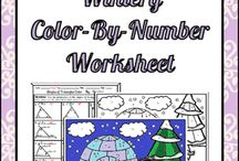 Color-By-Number Worksheets