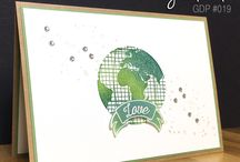 Going Global - Discontinued / Projects created by Cheryll featuring the Going Global Stamp Set from the Stampin' Up!® 2016 Occasions Catalogue
