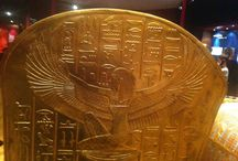 The Discovery of King Tut / Replicas of the golden treasures found in Tut's tomb on the US tour of The Discovery of King Tut exhibit at the Grand Rapids Museum in Grand Rapids, MI. Just as overwhelming as the real ones in the Cairo Museum. / by Cheryl Carpinello