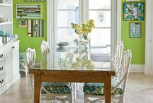 Decorating with Green / From leafy shades to darker hues, green evokes nature and life, a great color to introduce to your home.