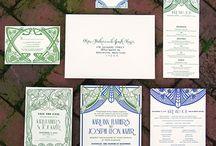 Wedding Stationery / wedding invitations, save the dates, menus, places cards, programs, etc.