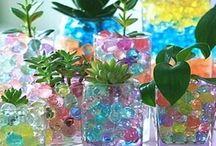 Water beads planter ideas.