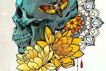 Tattoo flashes. Digital