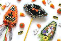 Burnett & Bradley Fall Needlepoint / Burnett & Bradley's Autumn/Fall, Halloween and Thanksgiving Products