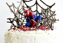 Festa Homem-Aranha Spider-Man Party / Bolos, doces e decoração para uma festa com tema Homem-Aranha