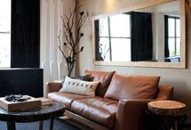 Horizontal mirrors for living room