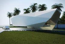 futuristic beach house
