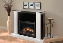 Electric fireplaces / Plug-in fireplaces.  Faux flame   real style