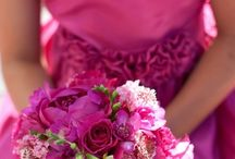 Bouquets- bright, vibrant pinks and purples
