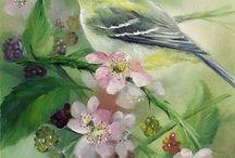Pictures Birds+Flowers