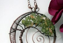 Wire jewelry and decorations