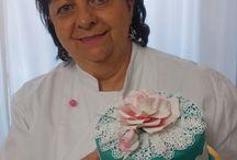 torta rosa pizzo / rosa con pizzo