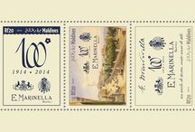 New stamps issue released by STAMPERIJA | No. 398 / MALDIVES 07 05 2014 - CODE: MLD14401A-MLD14410B