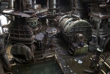 Industrial/Steampunk / Inspiration for 3D modelling and texturing