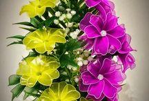 цветы из картона