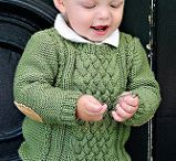 Men's knitting pattern hat with ear flap / Baby sweaters